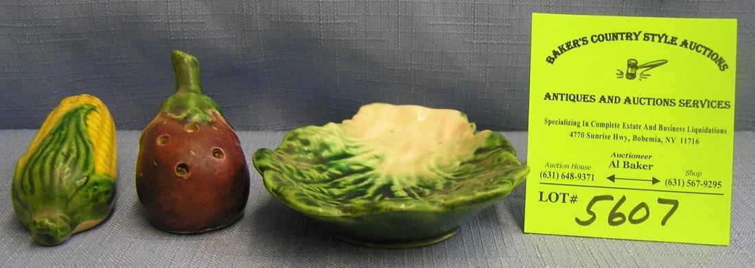 Vegetable group salt and pepper shaker set
