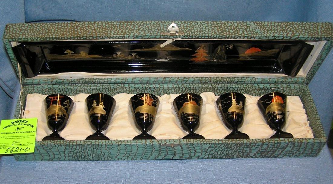 Vintage 1950's Japanese Saki set
