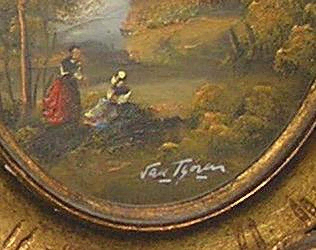 Pair of 19th century signed oil on board paintings
