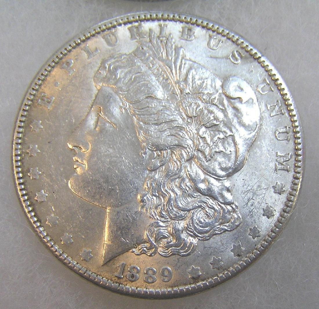 1889 Morgan silver dollar in very fine condition