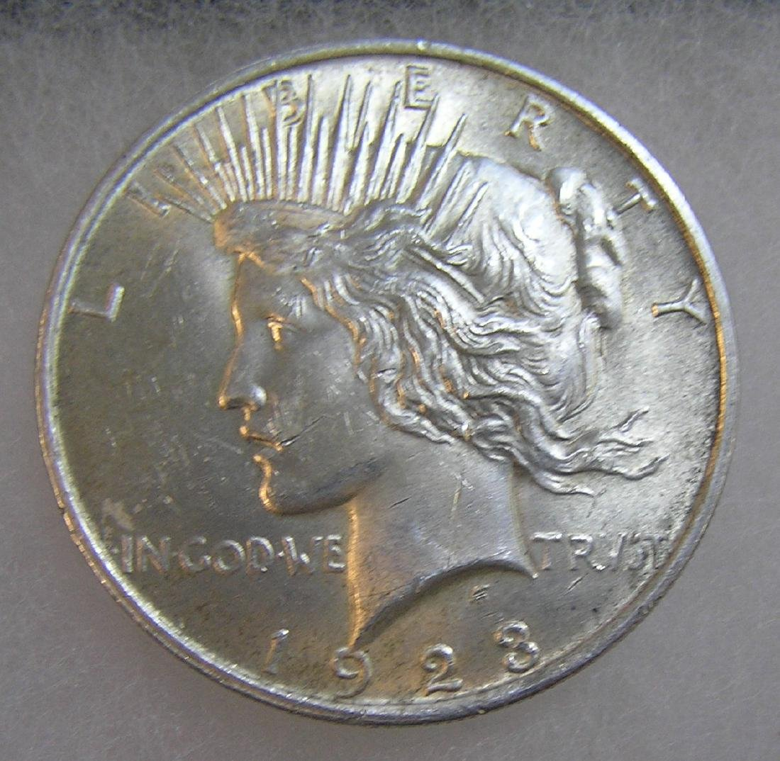 1923 Lady Liberty Peace silver dollar in very fine