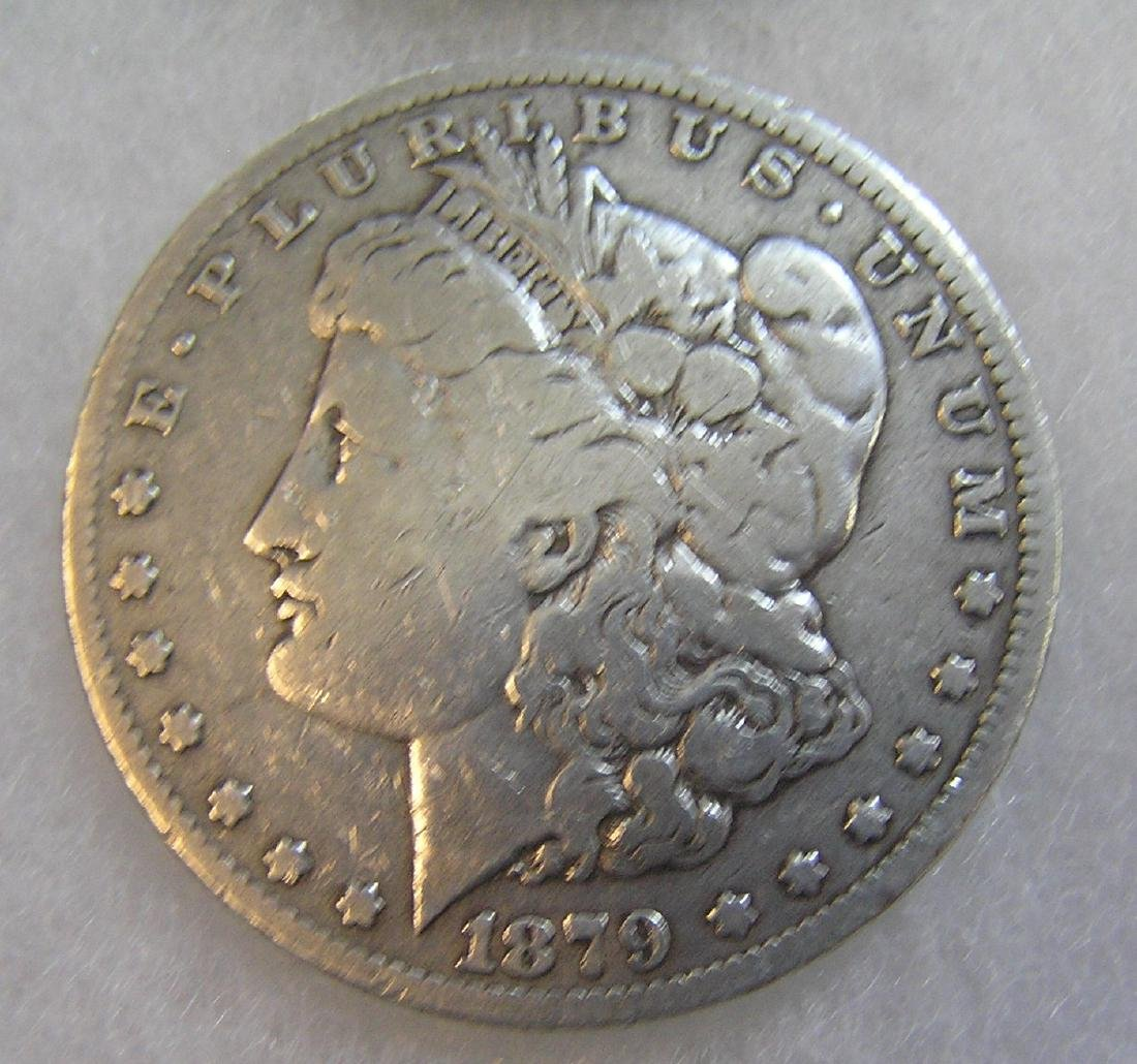 1879 Morgan silver dollar in very good condition