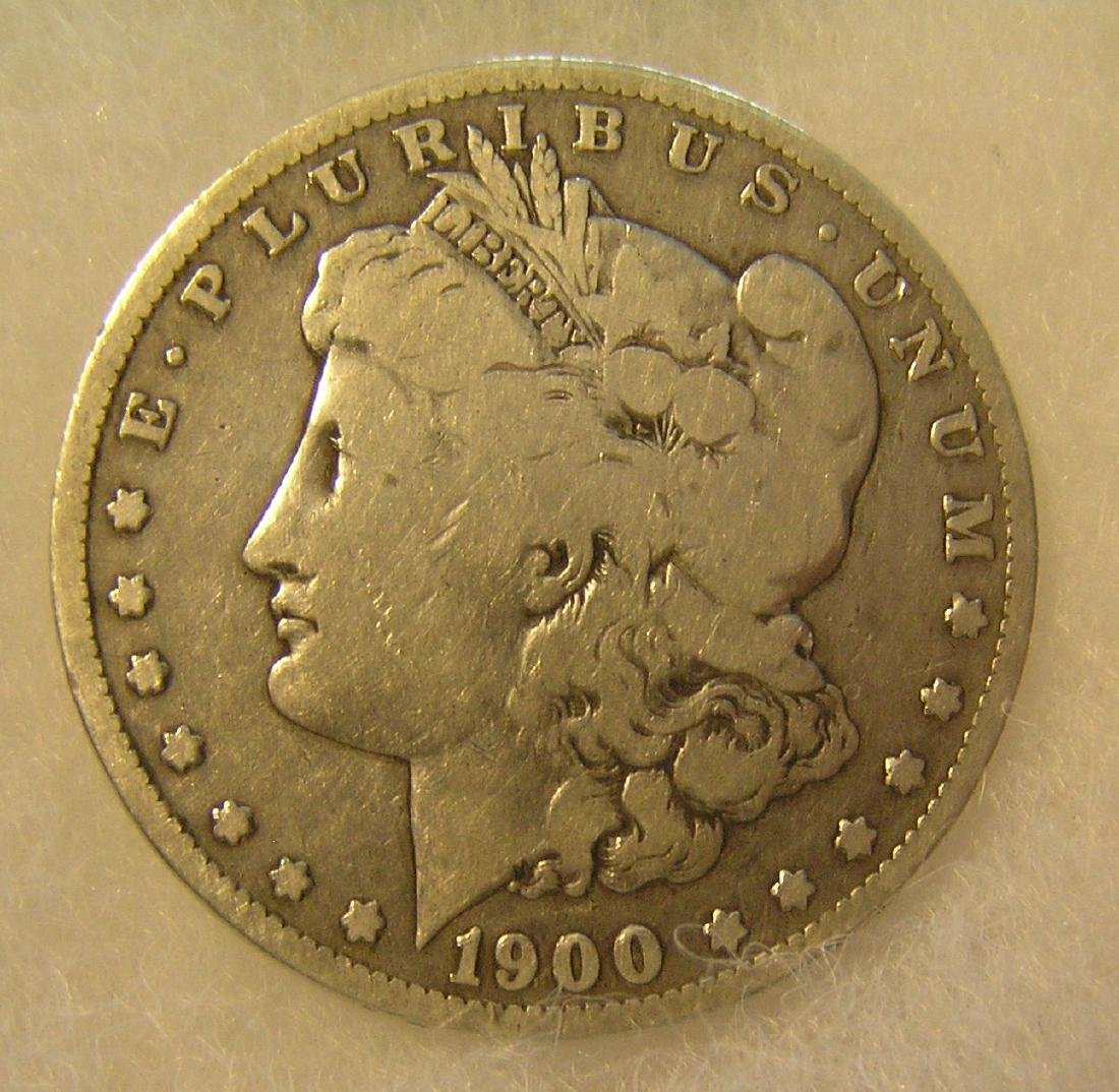 1900-O Morgan silver dollar in fine condition