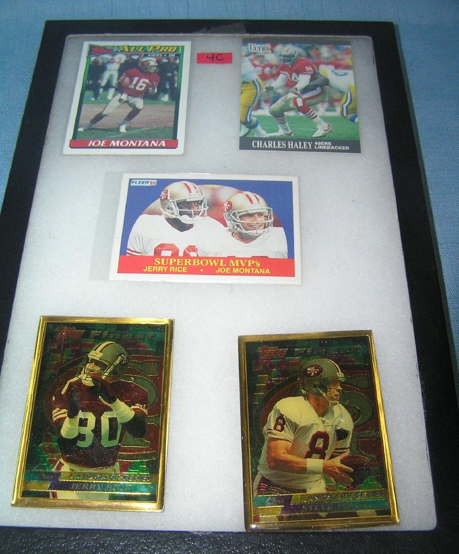 San Francisco 49er's all star football cards