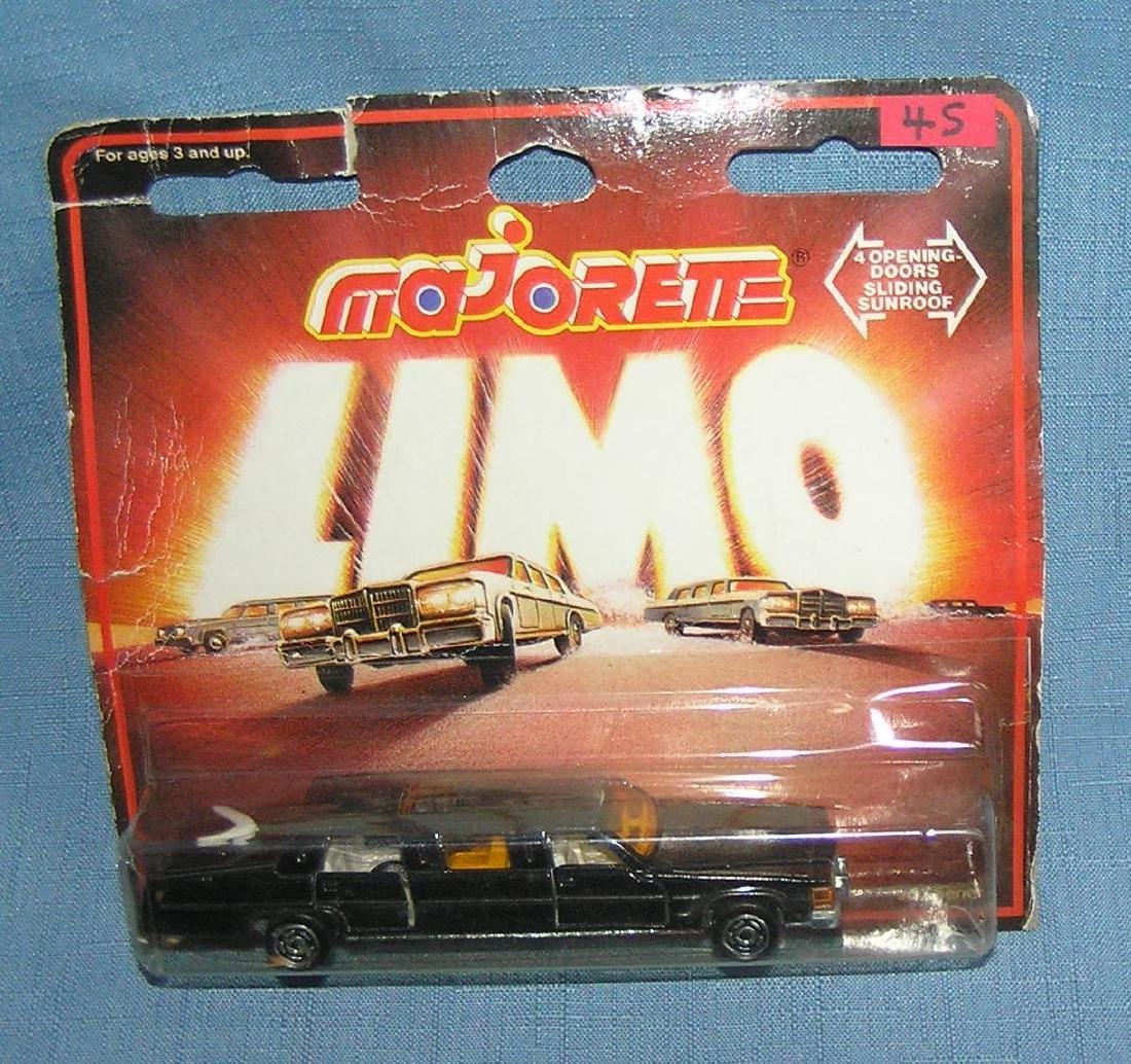 Cast metal limousine mint on card