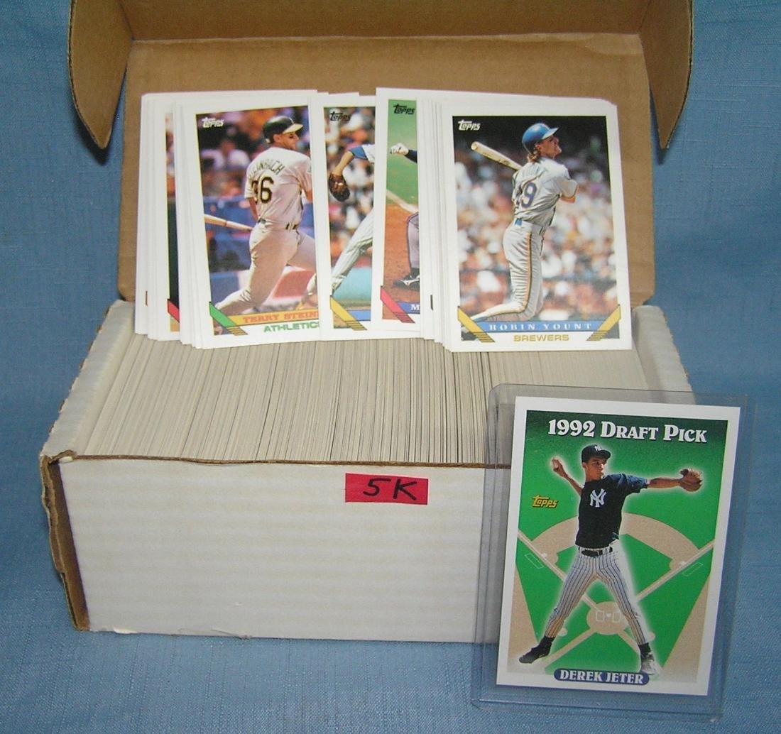 1993 Topps baseball card set with Derek Jeter rookie