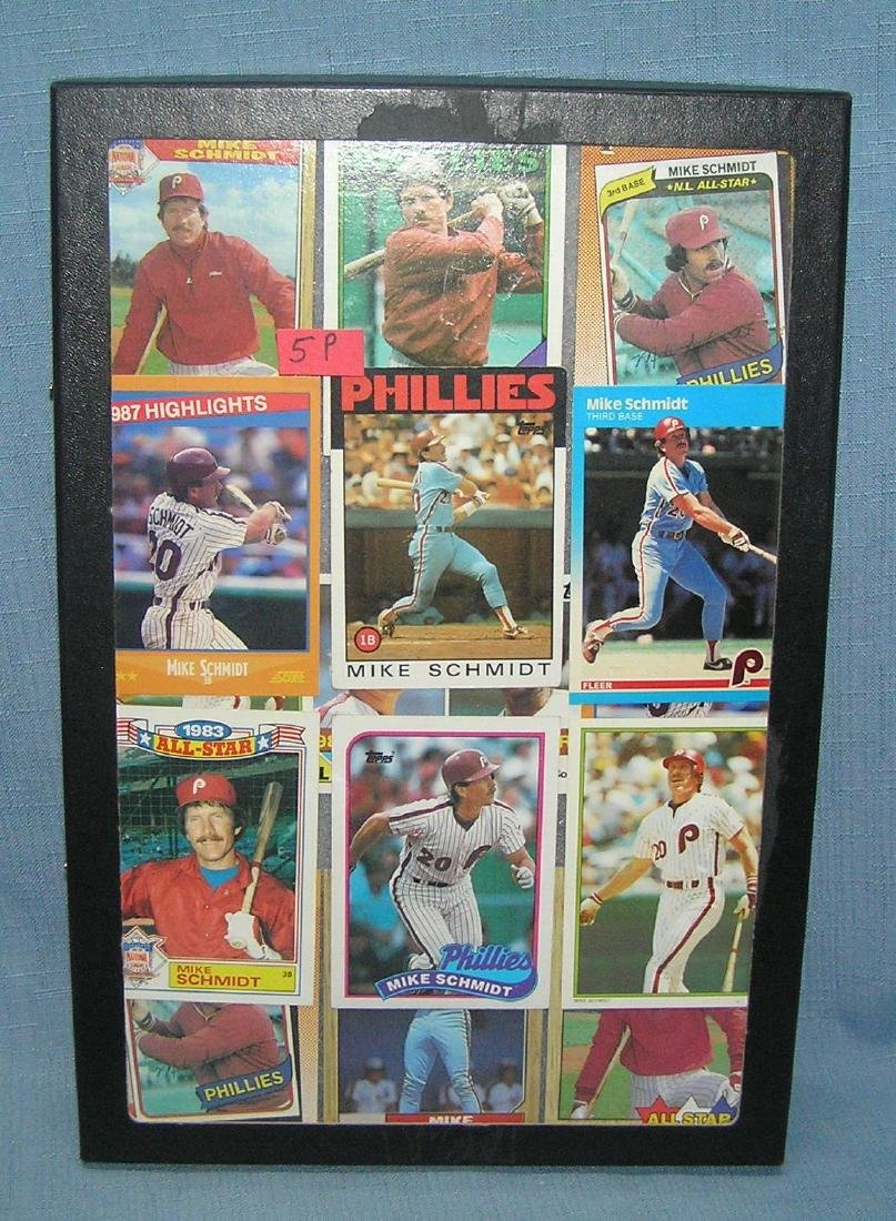 Group of vintage Mike Schmidt baseball cards
