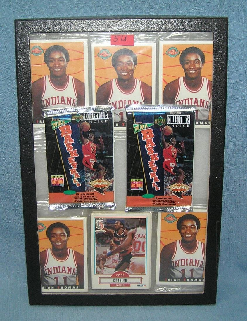 Group of vintage basketball packs