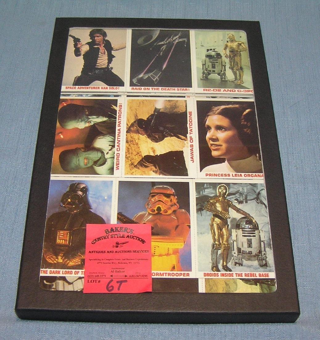 Star Wars 36 card uncut set