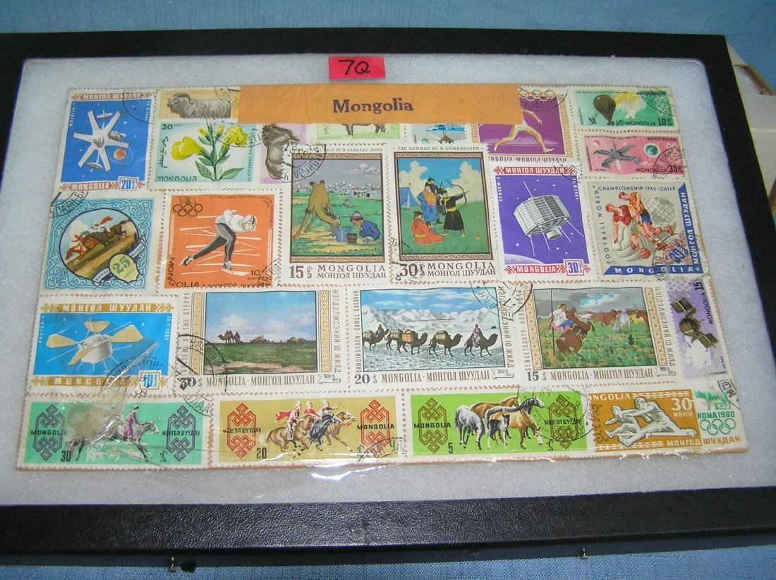 Collection of vintage Mongolia postage stamps