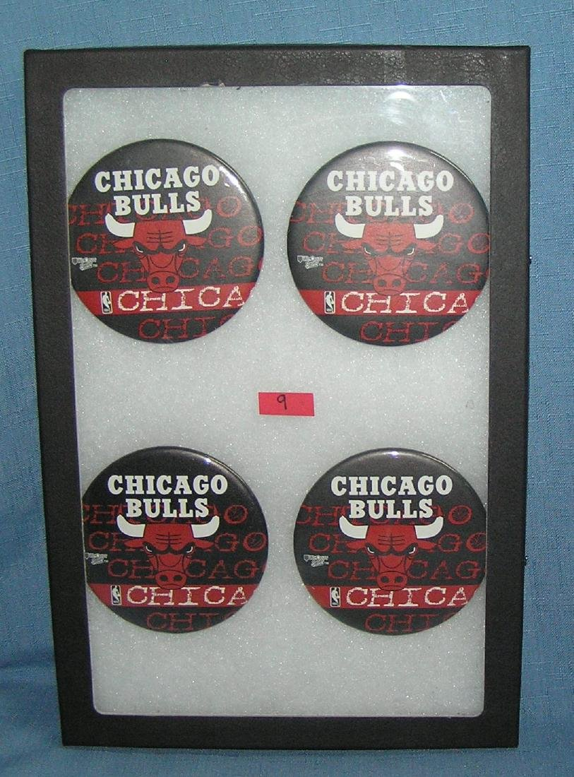 Group of Chicago Bulls basketball pin back buttons