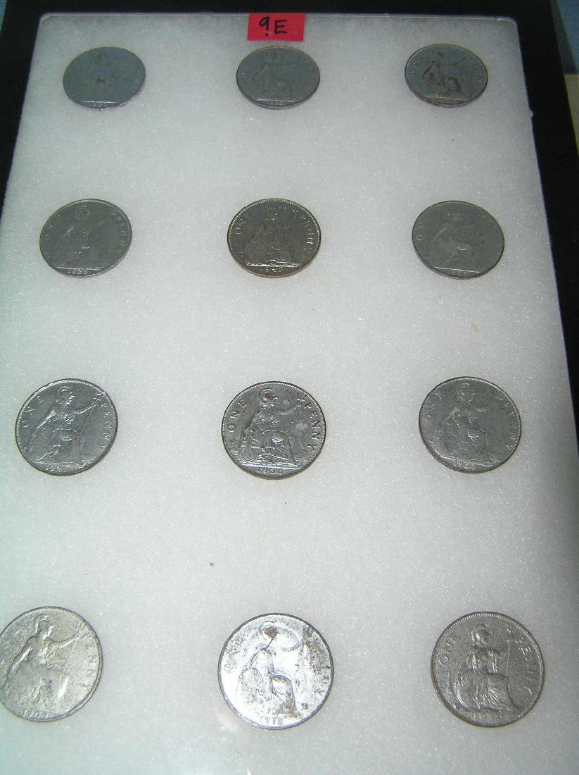 Collection of early large pennies