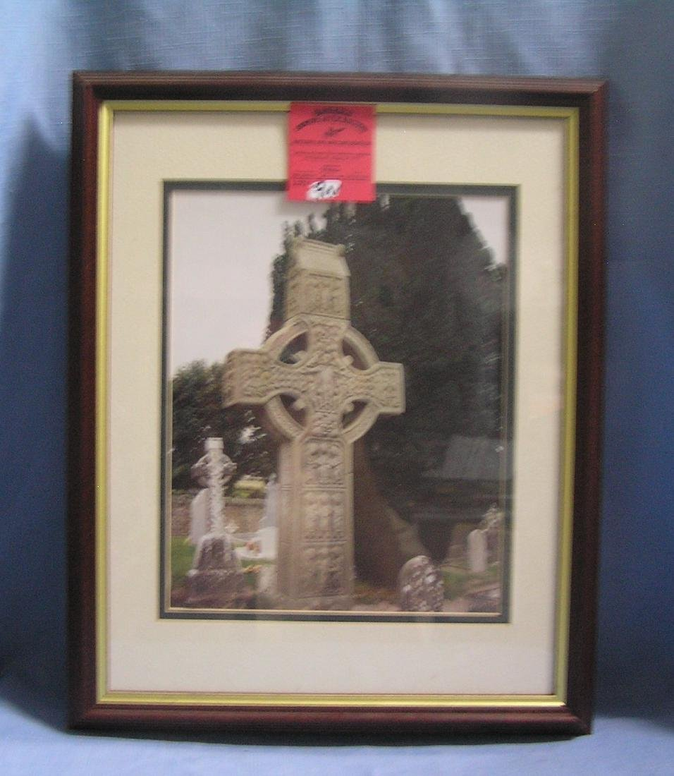 Matted and framed religious photo