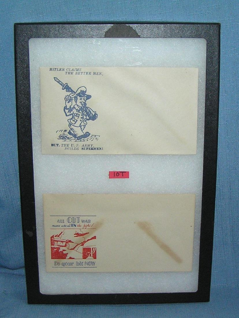 Pair of WWII patriotic victory mail envelopes