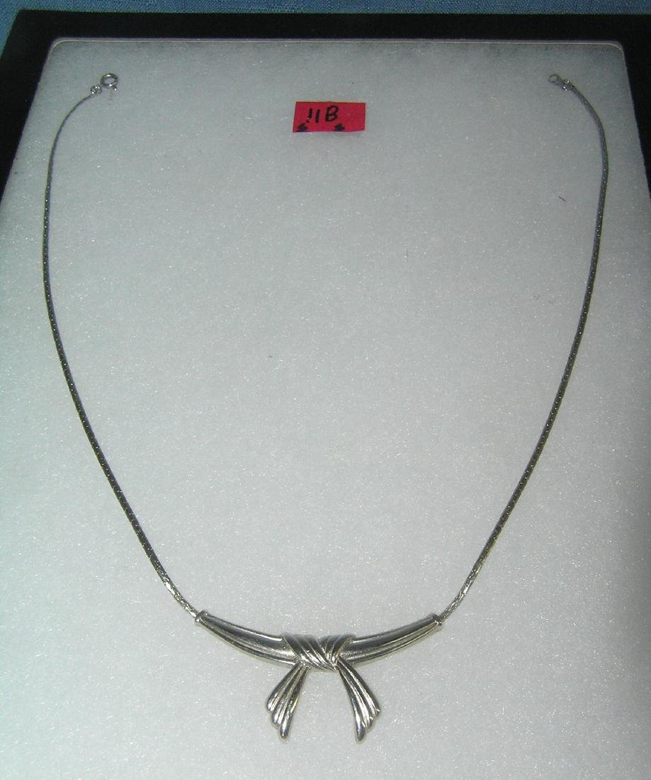 Vintage silver toned necklace