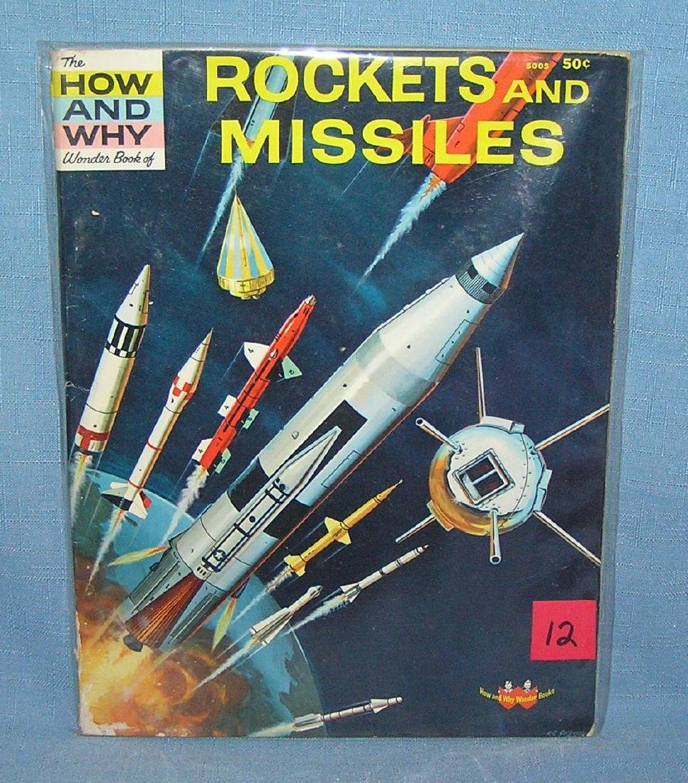 Rockets and missiles vintage space cover