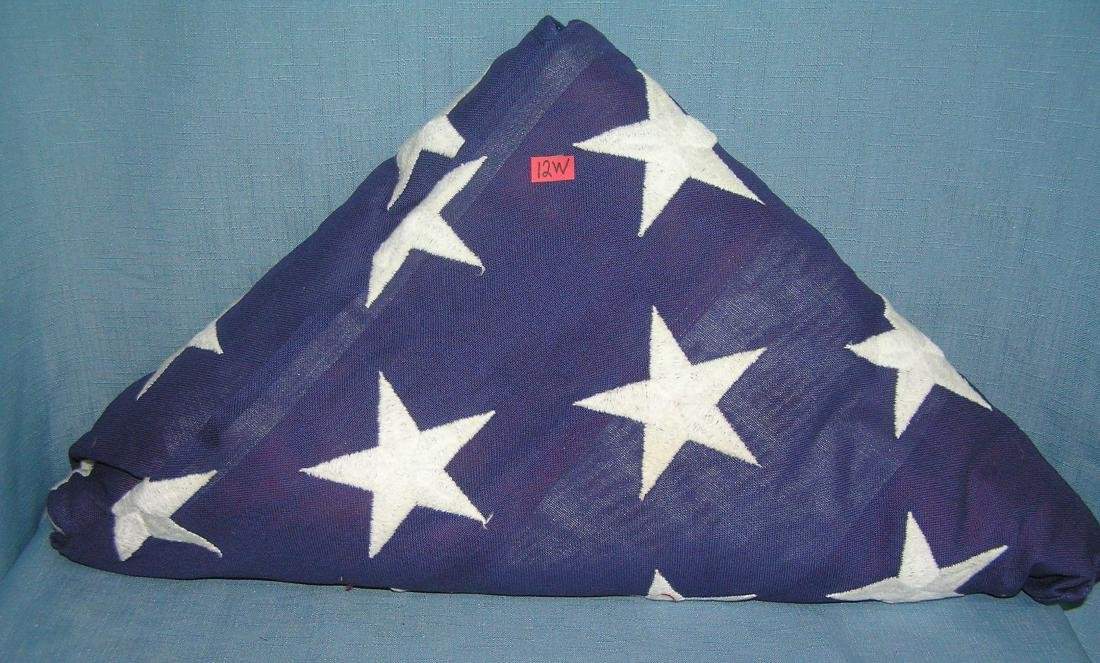 WWII Marine corp veterans memorial flag