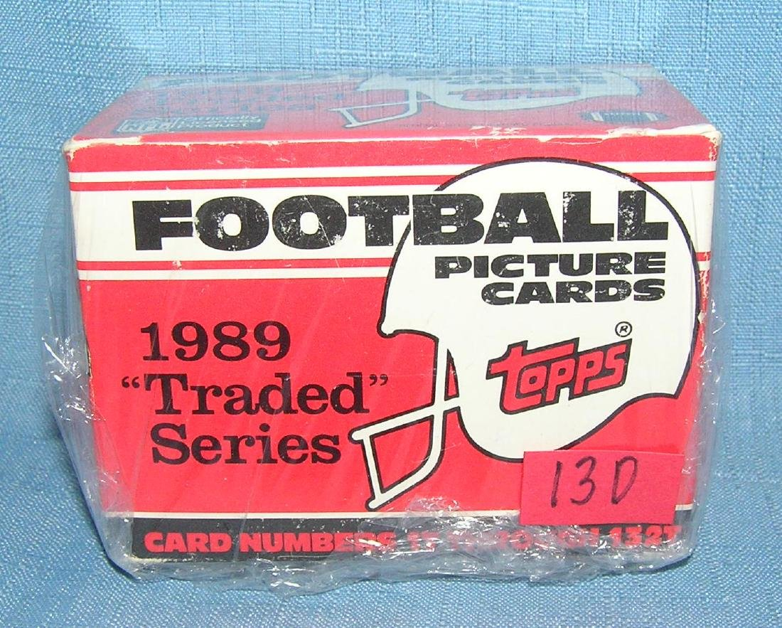Topps 1989 football traded series card set