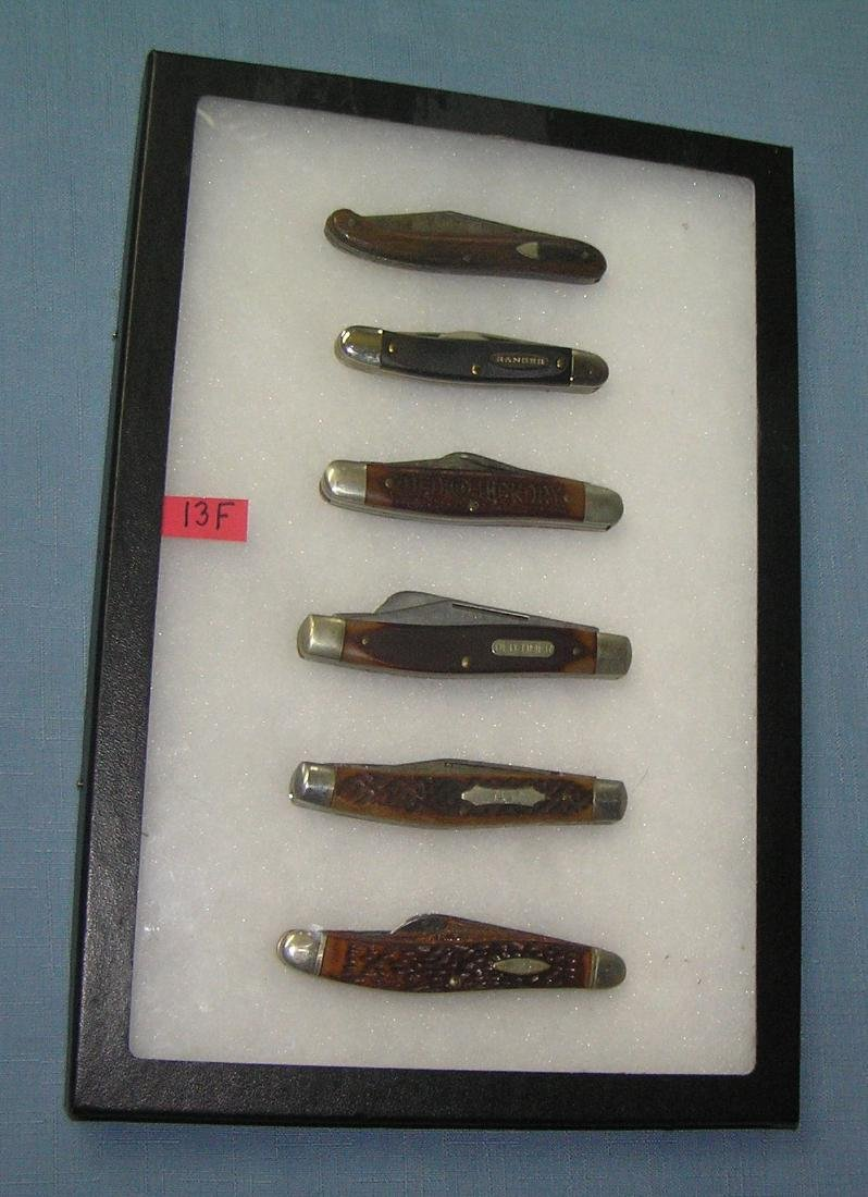 Collection of vintage pocket knives