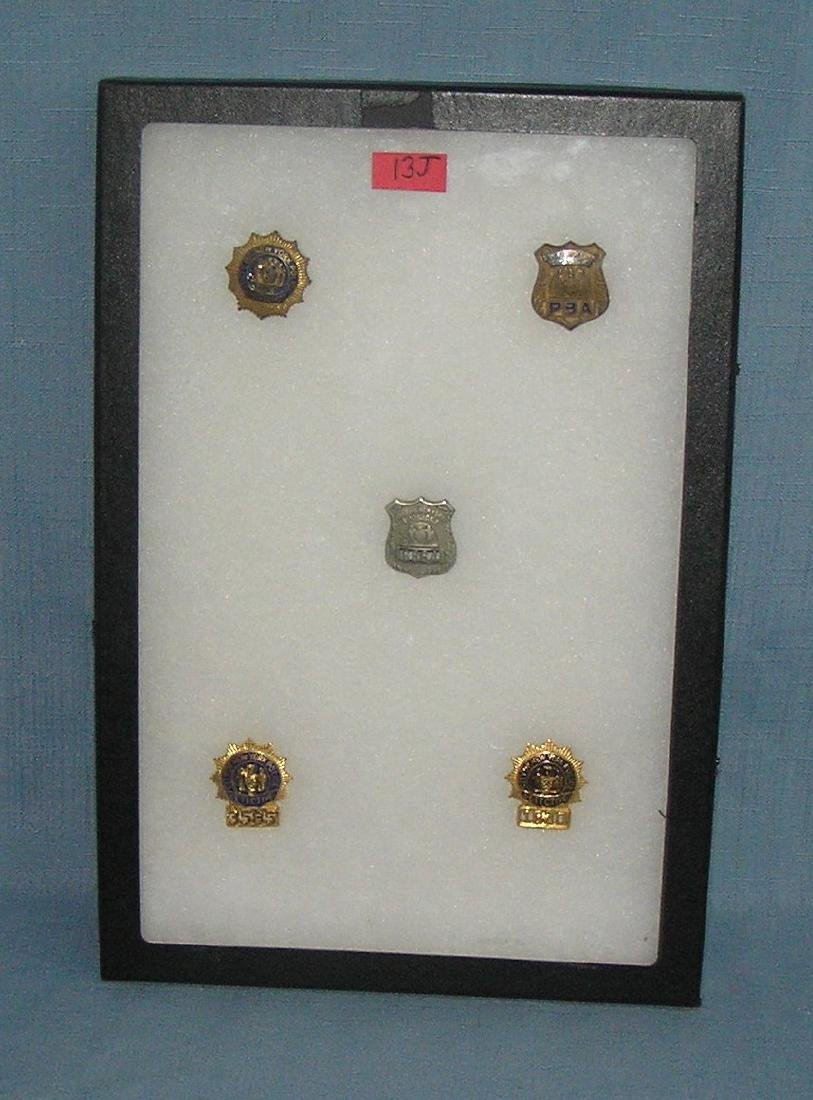 Collection of vintage NY City police badges