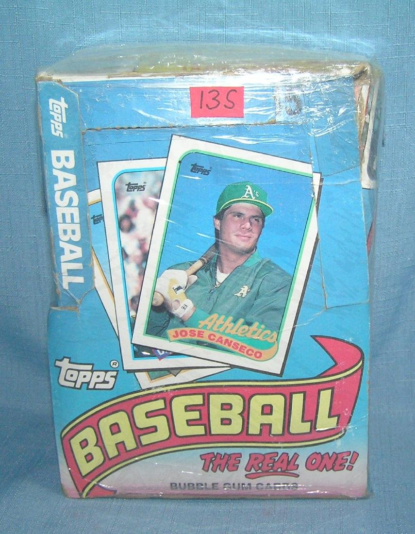 Box of 1989 Topps baseball cards