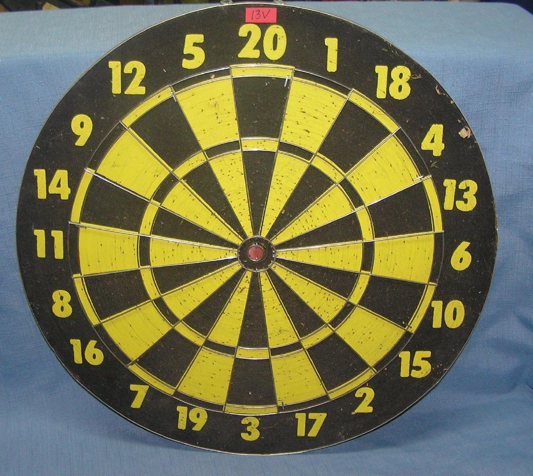 Vintage double sided dart board