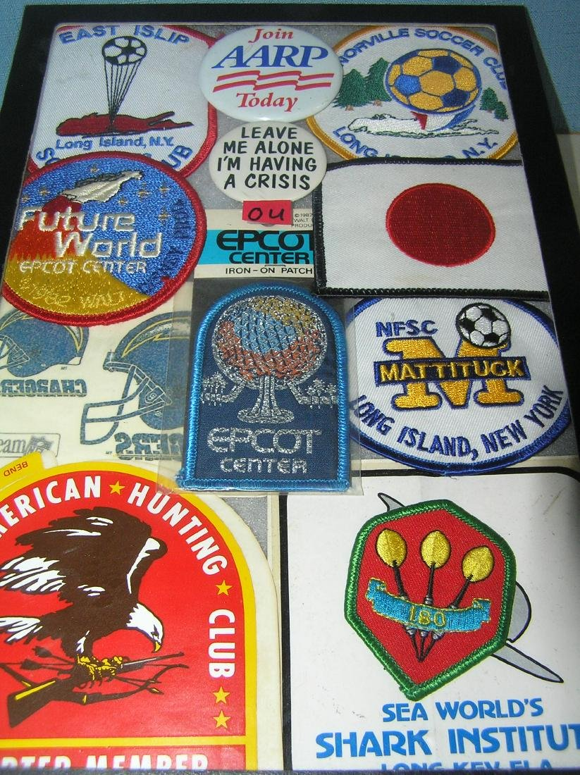 Collection of patches and buttons