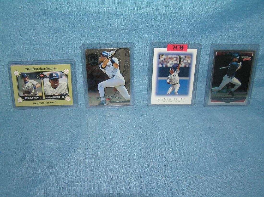 Group of vintage Derek Jeter baseball cards