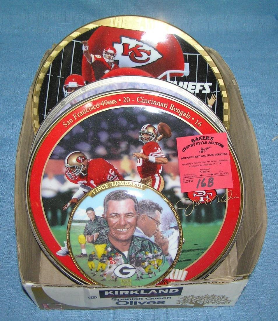 Football super star collector plates