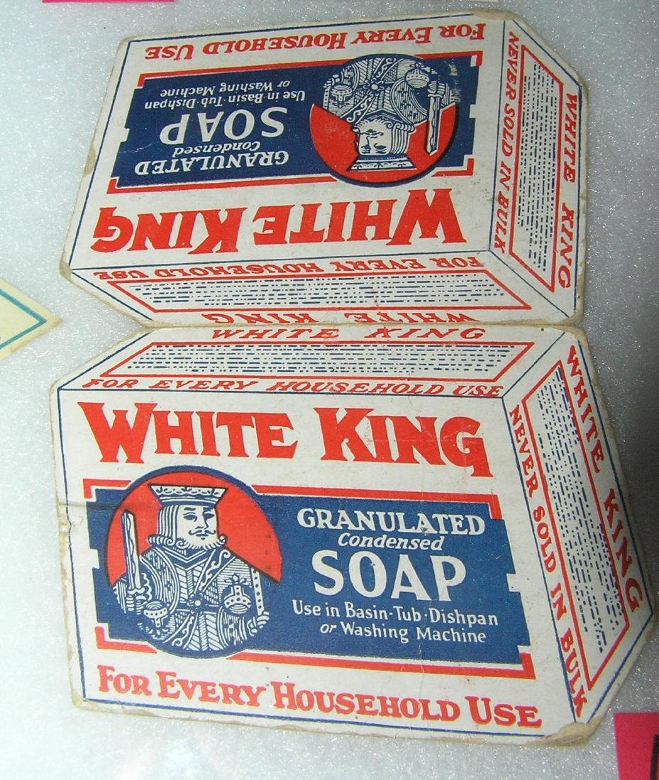 White King soap advertising double sided sewing kit