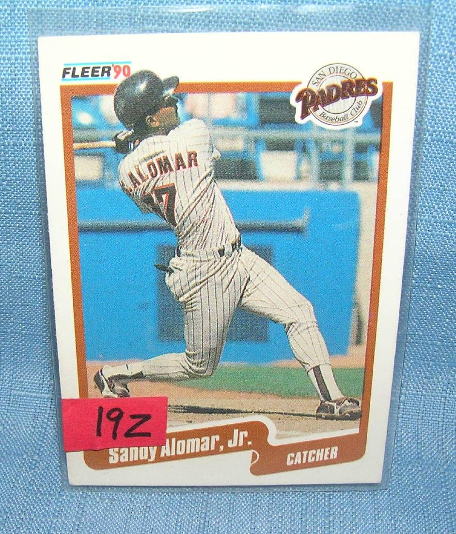 Sandy Alomar Jr. rookie baseball card