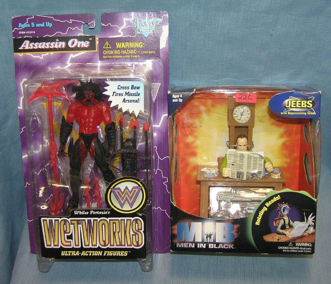 Pair of action figures