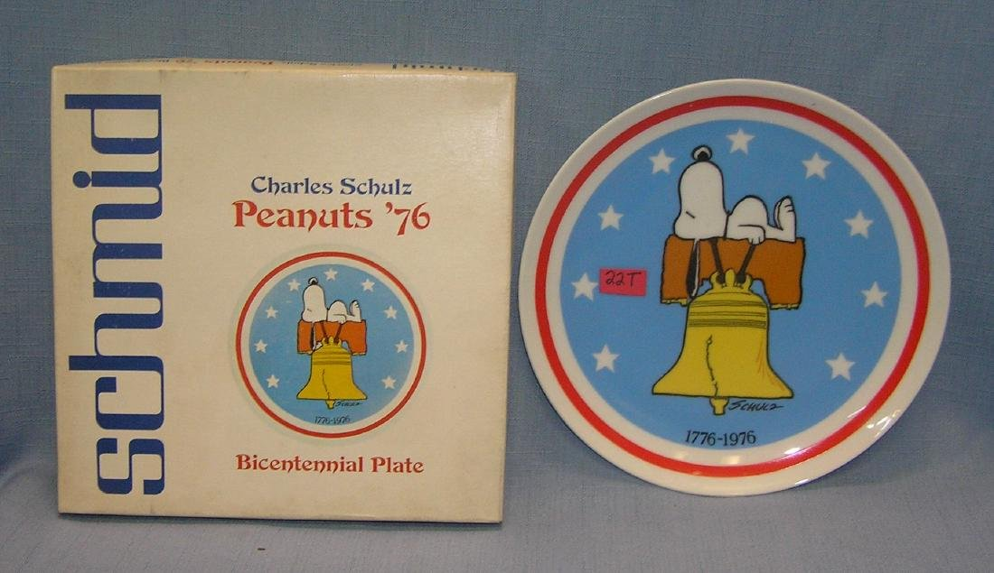 Peanuts Bicentennial porcelain collector plate