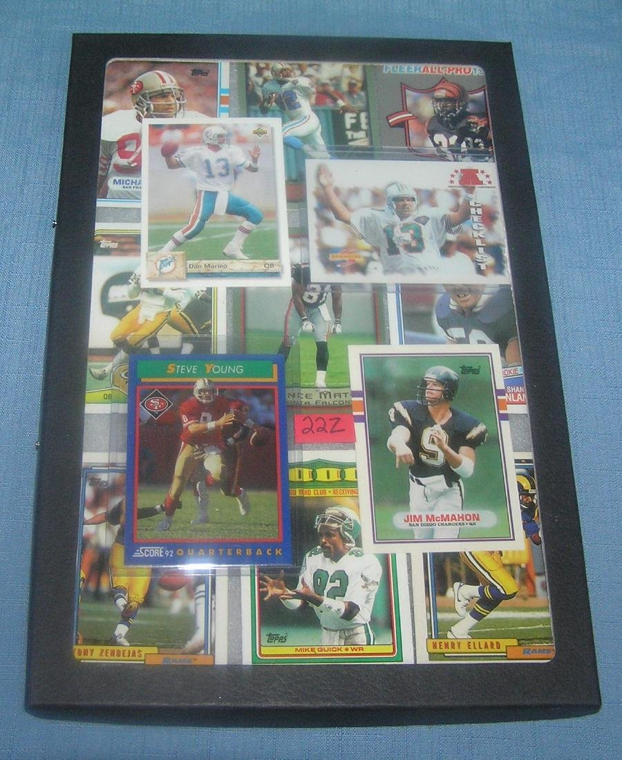 Group of vintage football all star cards