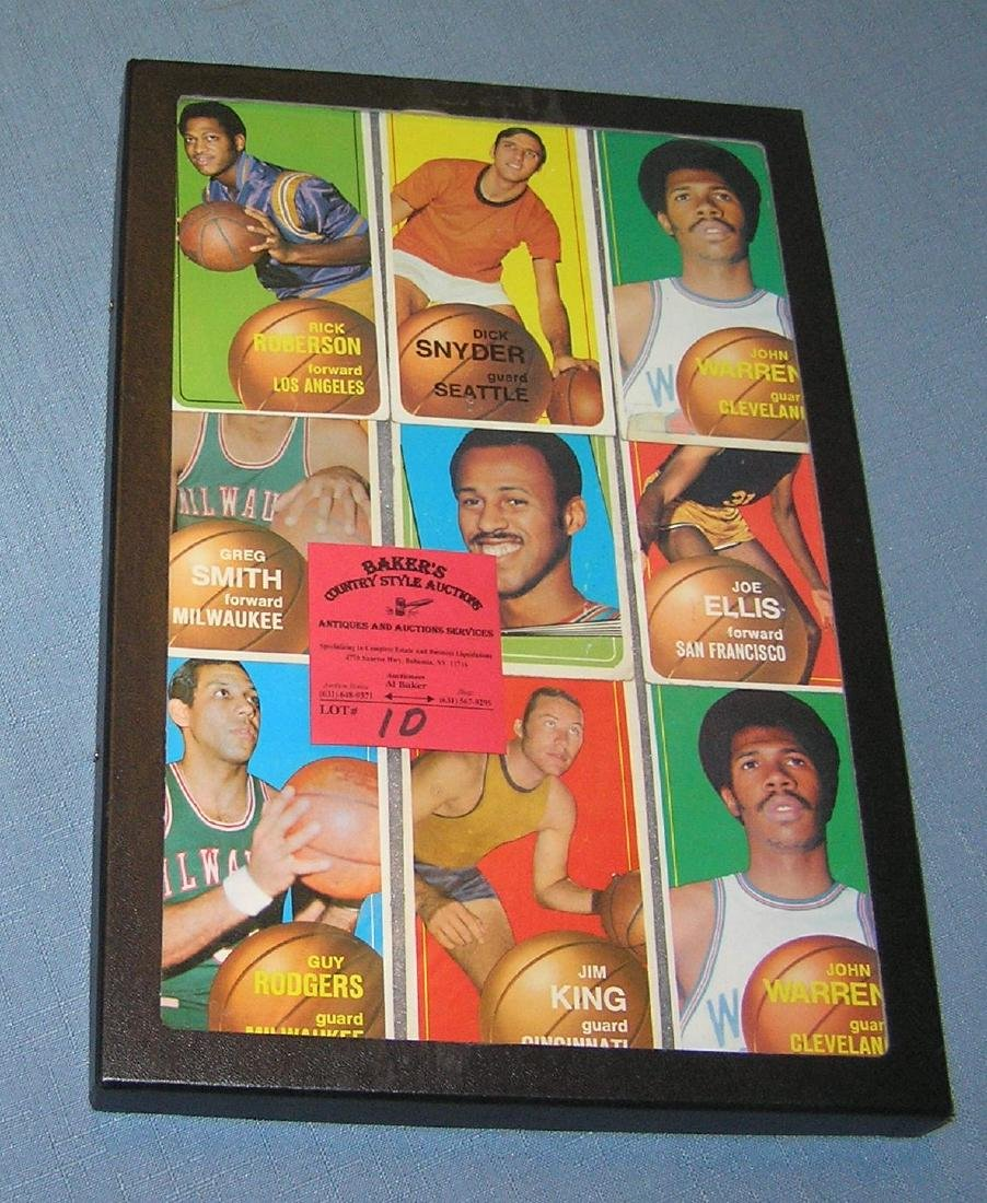 Group of vintage Topps basketball cards 1970-71