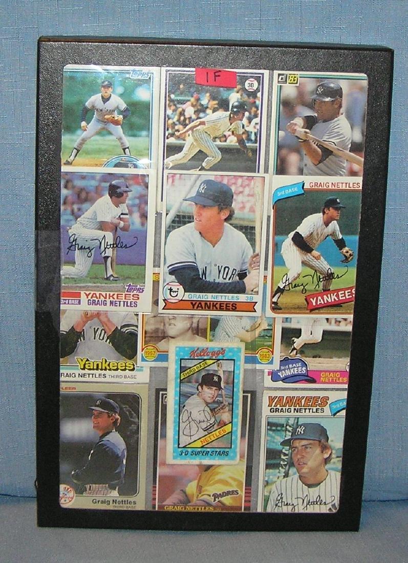 Greg Nettles NY Yankees all star baseball cards