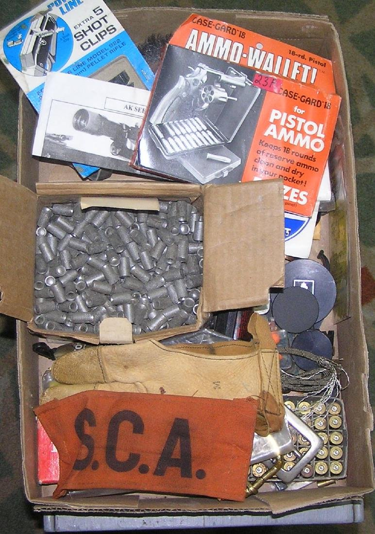 Box of gun and ammo supplies