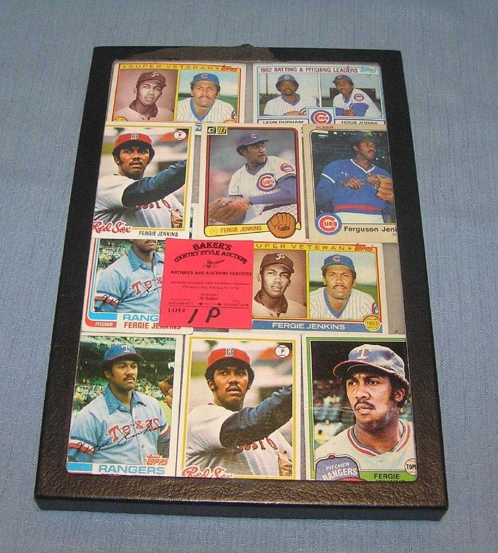 Vintage Ferguson Jenkins all star baseball cards