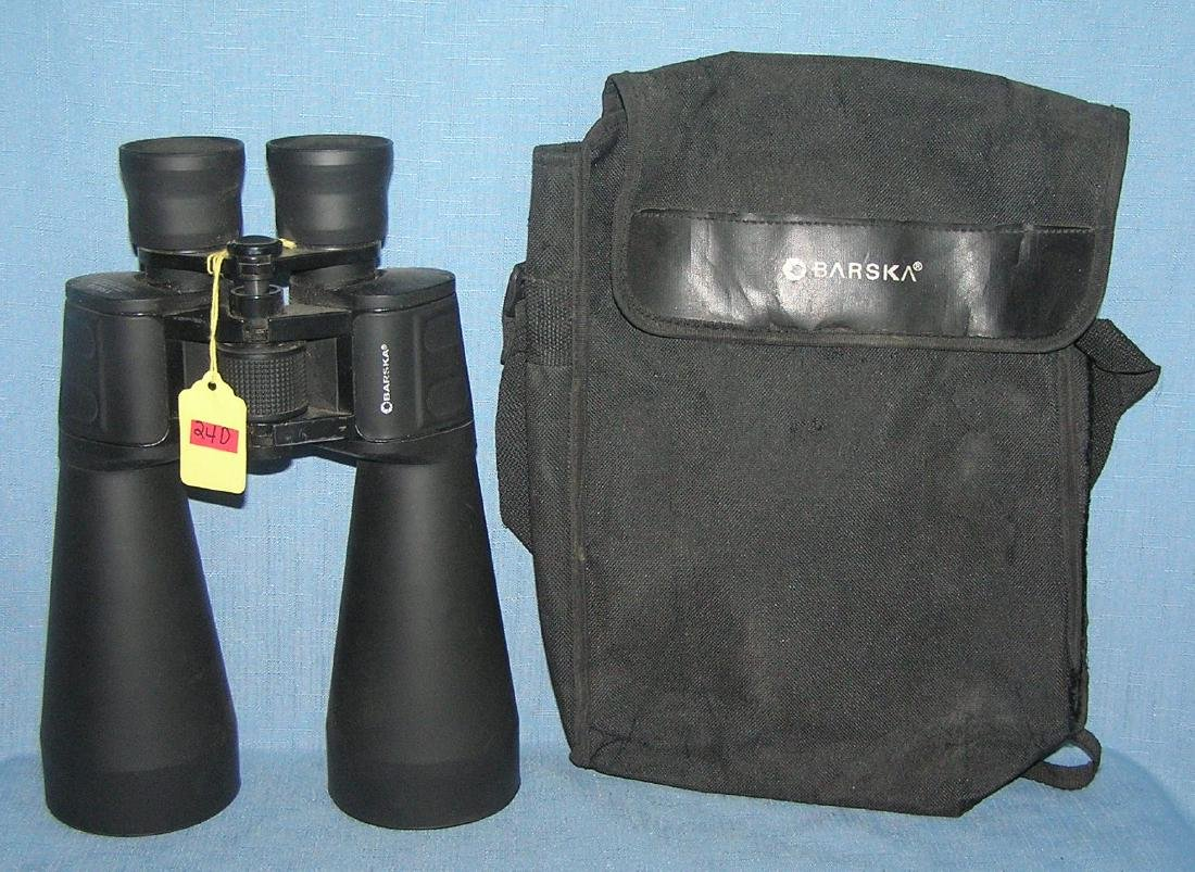 Pair of Barska 15 by 70 binoculars with case