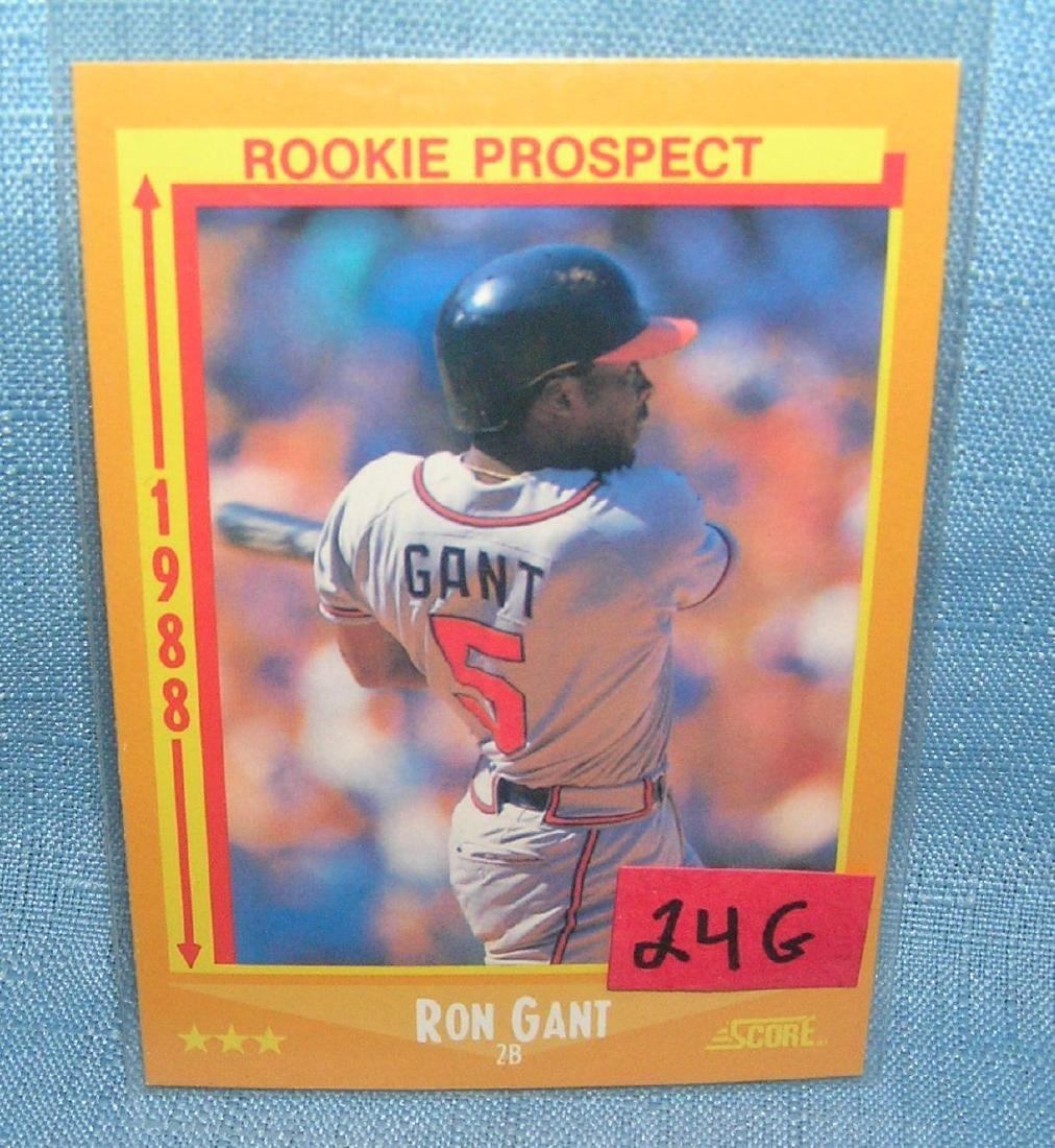 Ron Gant rookie baseball card