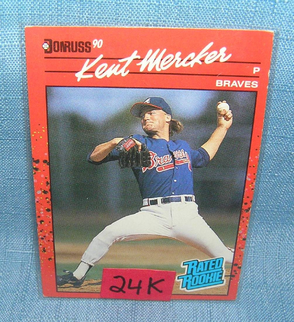 Kent Mercker rookie baseball card