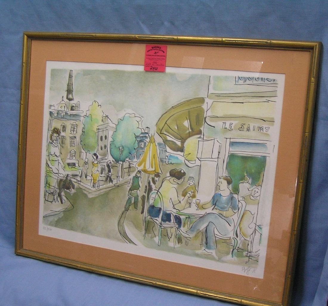Artist signed matted and framed print