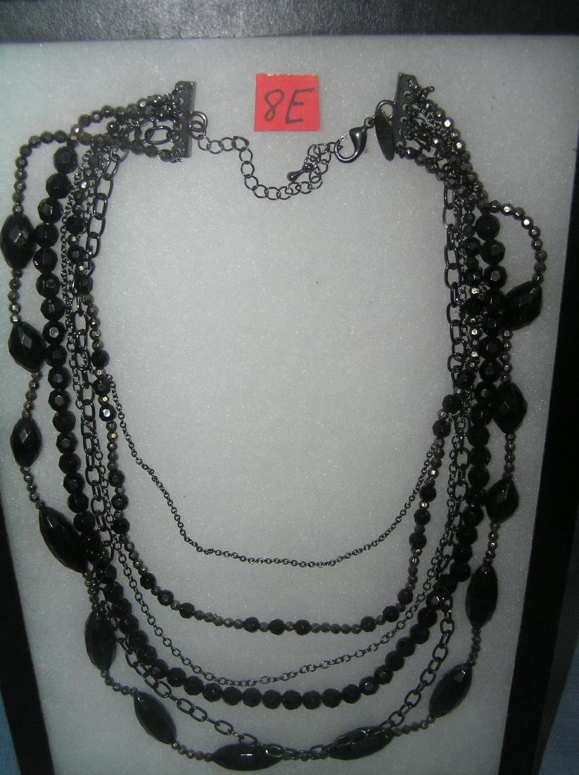 Onyx multi strand necklace