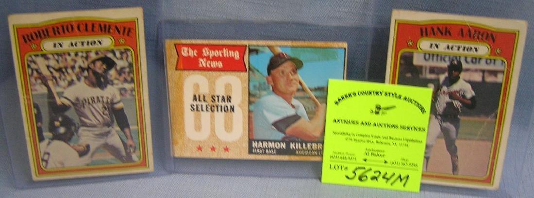 Group of vintage superstar baseball cards
