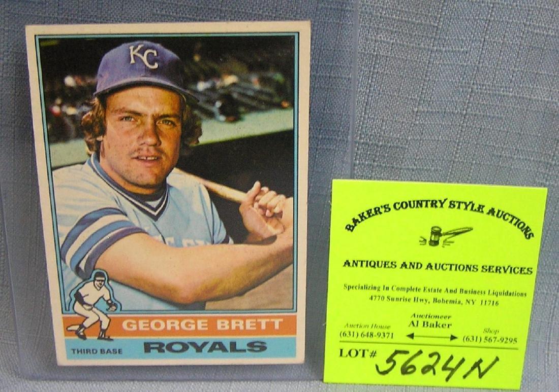 High quality George Brett baseball card