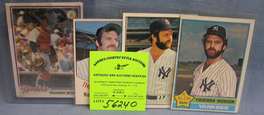 Group of vintage Thurman Munson baseball cards