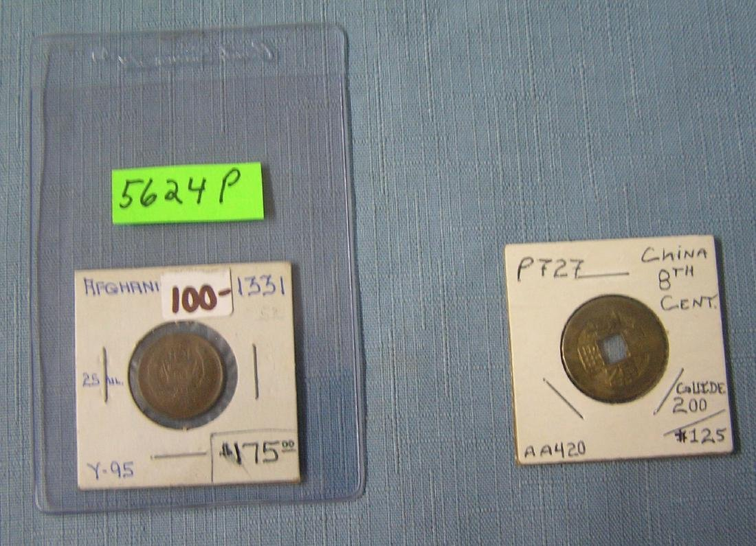 Pair of world coins