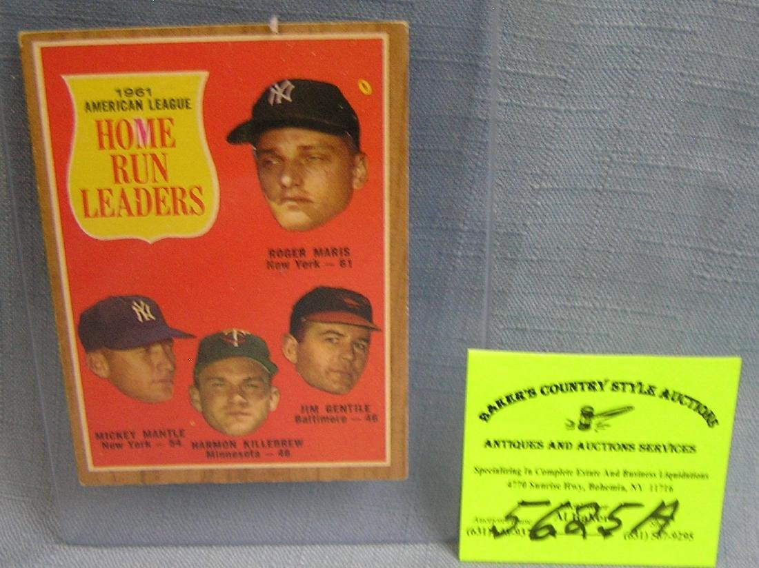 1962 Mantle, Maris, Killebrew & Gentile baseball card