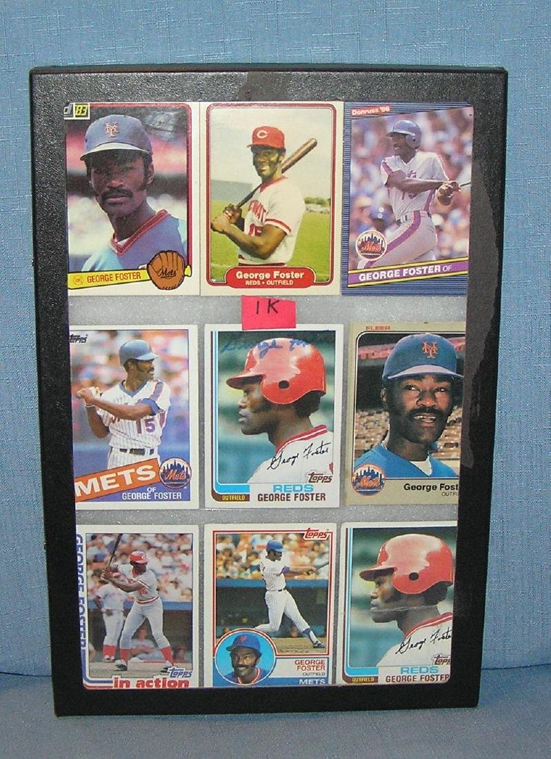 George Foster all star baseball cards