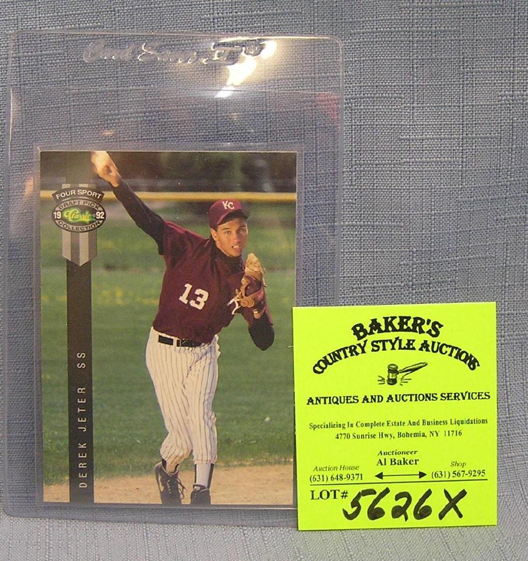 Vintage Derek Jeter rookie baseball card